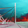Penobscot Narrows Bridge in Solar