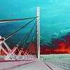 Penobscot Narrows Bridge in Solar