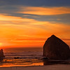 Haystack Rock Sunset, Cannon Beach, Oregon