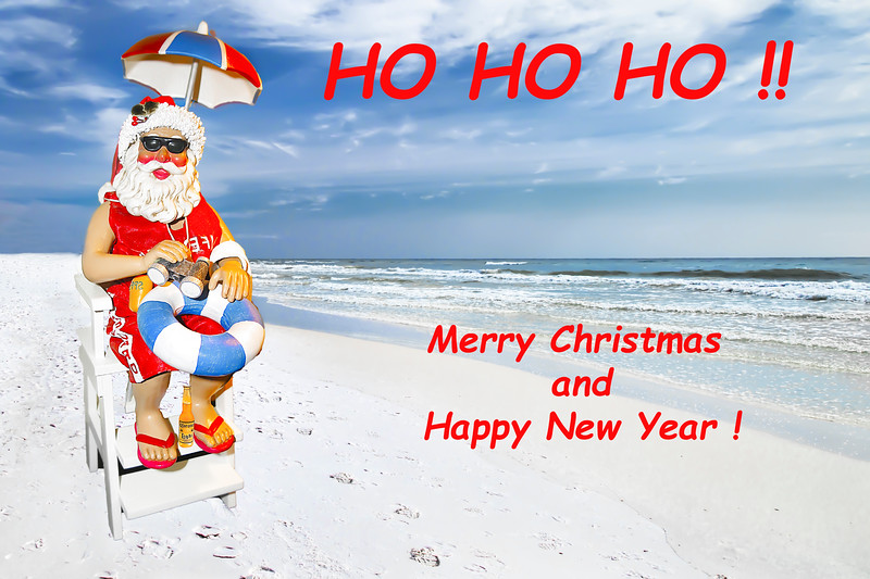 Santa Merry Christmas and Happy New Year Card