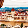 Overlooking the Hungarian Parliament building