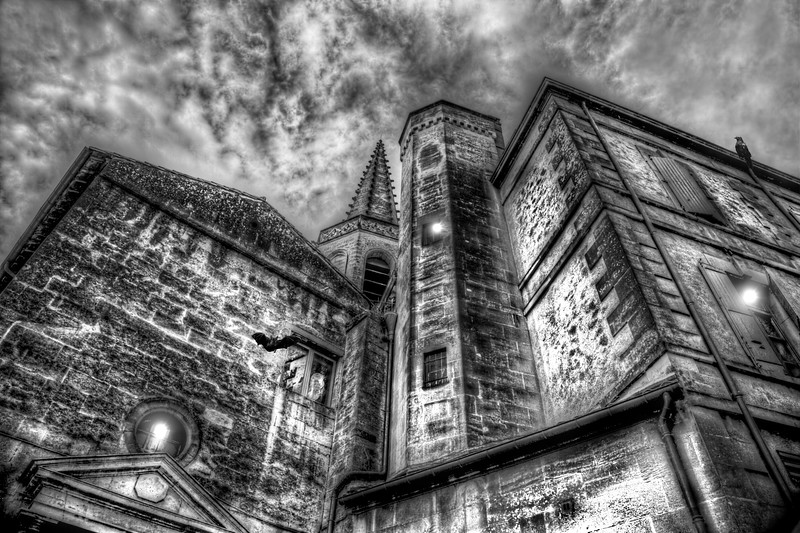 Haunted Church in Black and White