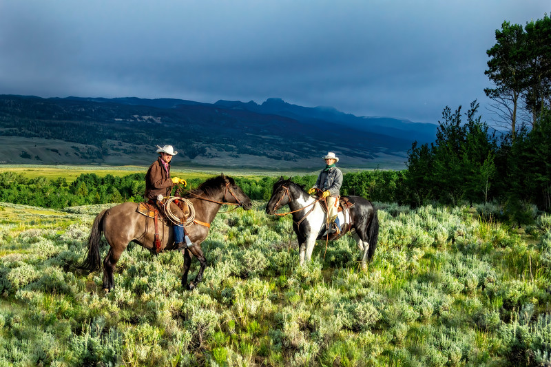 A Wyoming Cowboy And Cowgirl - A Portrait