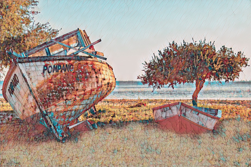 Abandoned Boats with Art