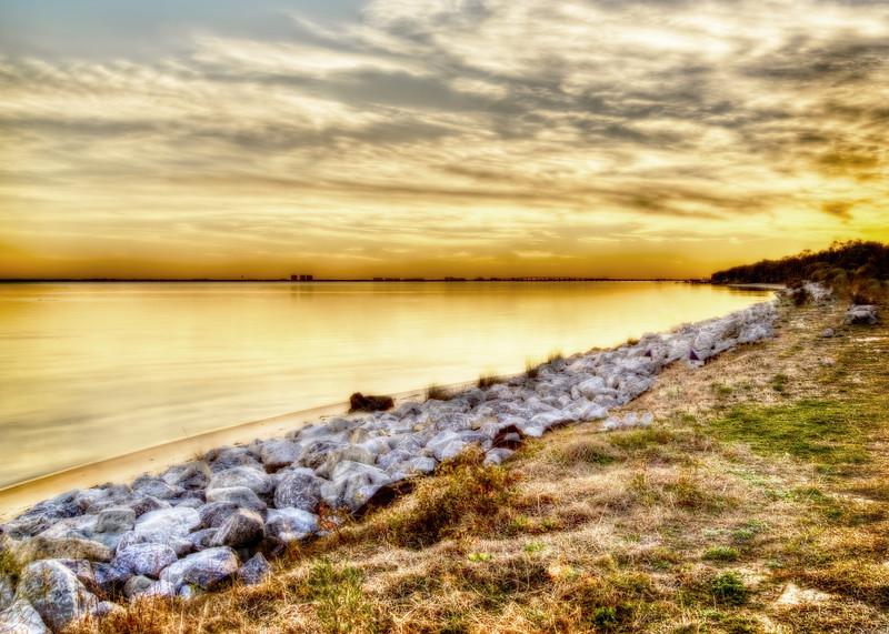 A Golden Choctawhatchee Bay Sunset in Florida