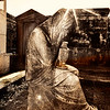 Statue Of Weeping Woman, Lafayette Cemetery, New Orleans, in Monotones