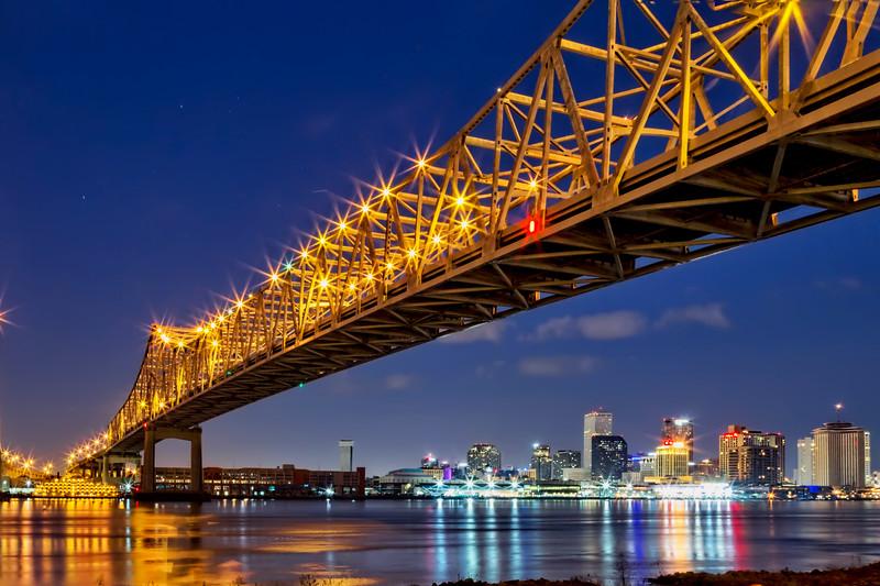 The Crescent City Bridge, New Orleans