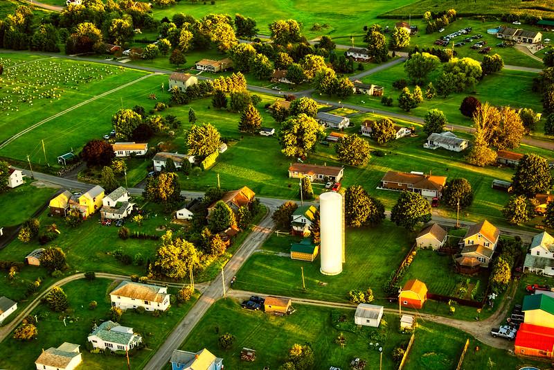 Pennsylvania Landscape from Aloft in An Ultralight