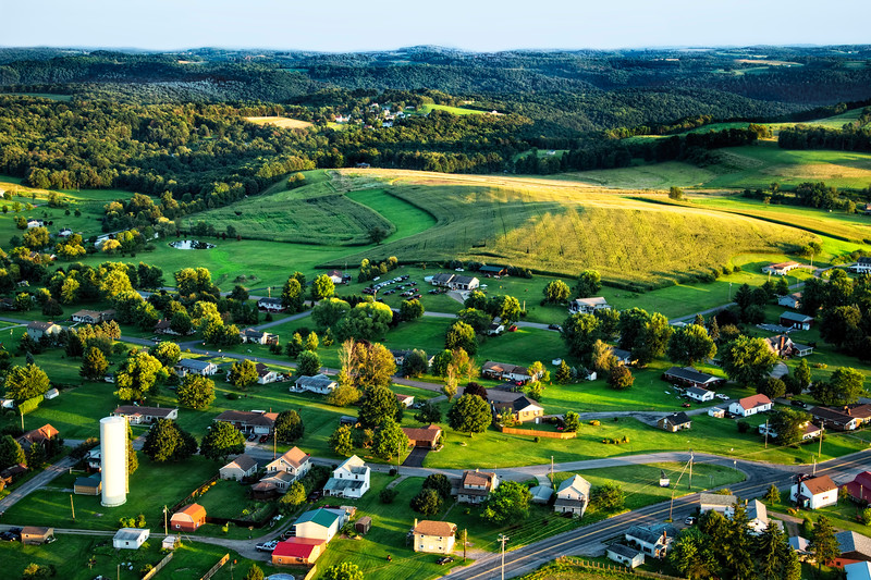 New Bethlehem, Pennsylvania from an Ultralight