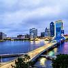 Downtown Jacksonville's Blue Hour