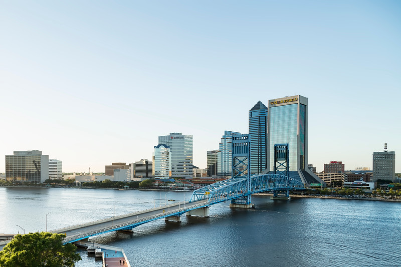 St Johns River Skyline, Jacksonville, Florida