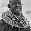 Maasai Woman in Black and White