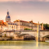 Bridge Over The Rhone River, France