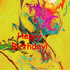Happy Birthday Lilac Breasted Roller Abstract