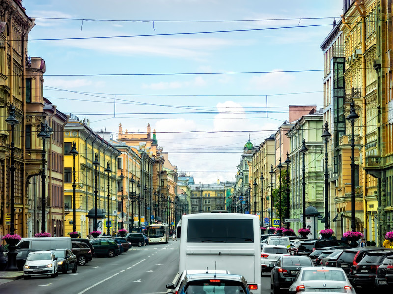 A Glimpse of Main Street, Russia