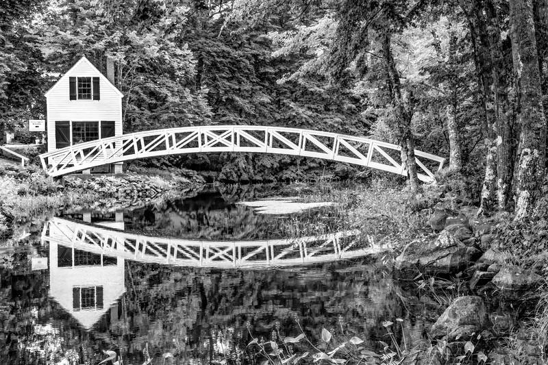 Somesville Bridge, Mount Desert, Maine In Black And White