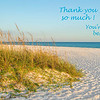Thank You Card - Beach