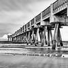 Jacksonville Pier in Black and White