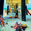 Beneath the Jacksonville Beach Pier
