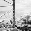 Penobscot Narrows Bridge in Black and White