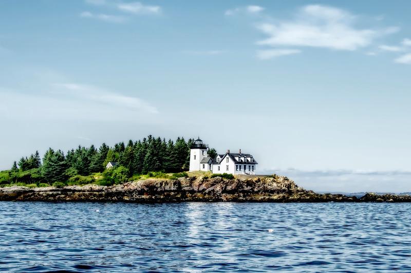 A Lighthouse On The Coast Of Maine