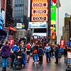 Times Square, People, Lights, Action