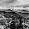 Mountains of Great Smoky Mountains National Park in Black and White
