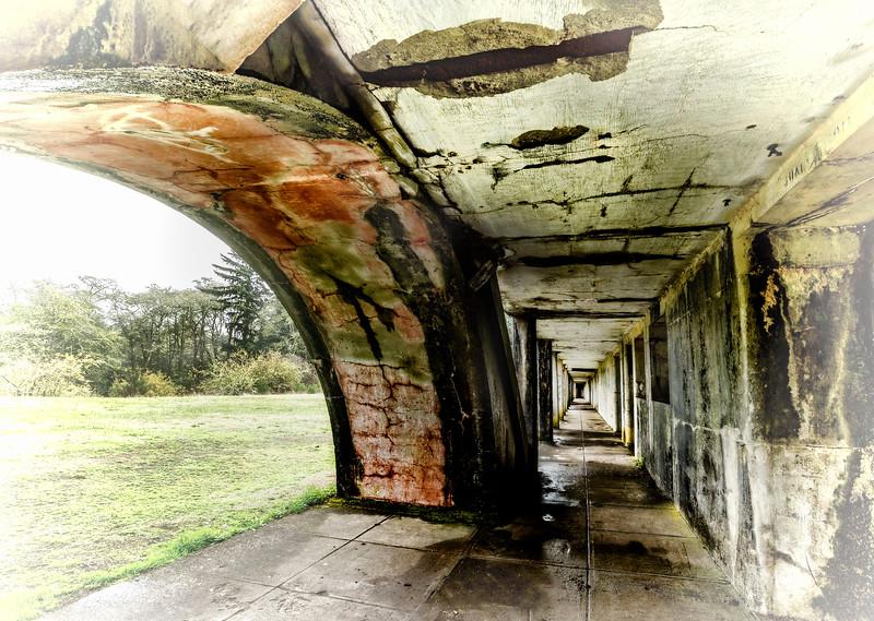 Fort Stevens in Monotone
