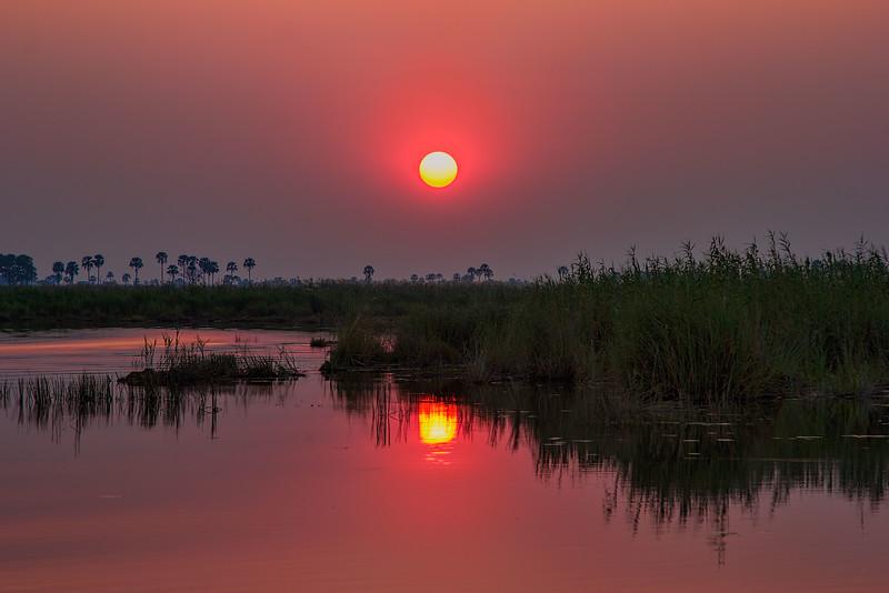 Botswana Sunset over the River