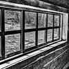 Window From An Old Old House in Black and White