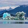 An Iceberg in the Inside Passage of Alaska