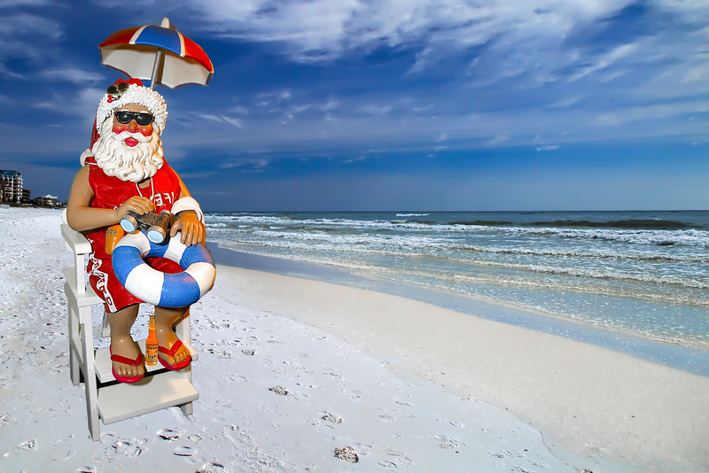 Santa Lifeguard