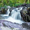 Beautiful Red Rock Falls, Glacier National Park, Montana