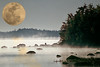2016 Texas  super moon over Maine water 2