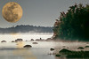 2016 Texas super moon over Maine waters 3