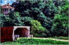 IA Winterset Holliwell bridge and old house