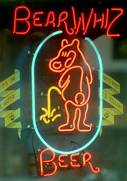 1990 CO Durango Bear Whiz neon sign