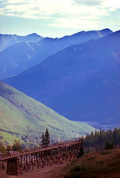 1990 CO Old mine trestle in SW Colorado
