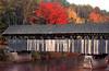 1987 ME Artists covered bridge in autumn