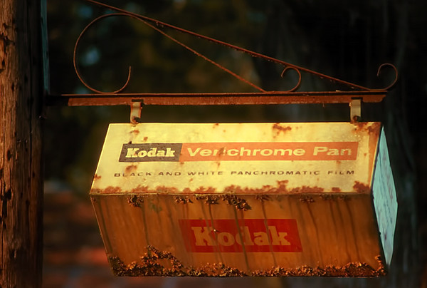1987 MS Old Kodak sign along the Natchez Trace