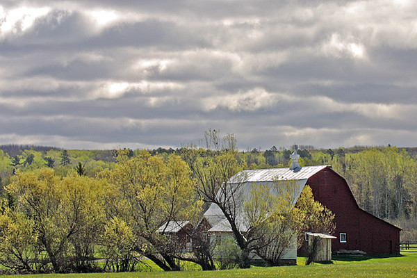 2002 WI Barn under storm clouds