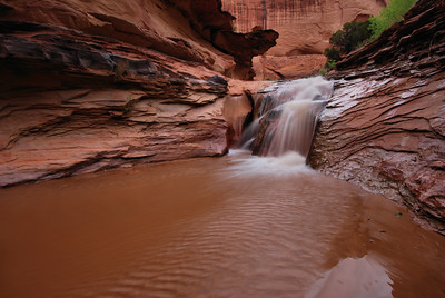 Waterfall in Coyote Gulch