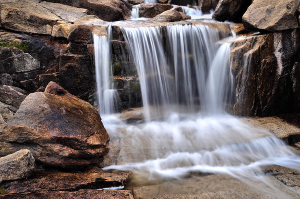 Small Watterfall Draining into Sapphire Lake.  Copyright © 2010 All rights reserved.