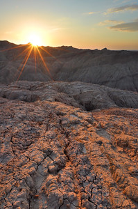 Sunrise over the Badlands Anza-Borrego State Park, California.  Copyright © 2011 All rights reserved.