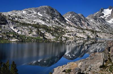 Reflections in Garnet Lake.  Sierra Nevada Range, California.