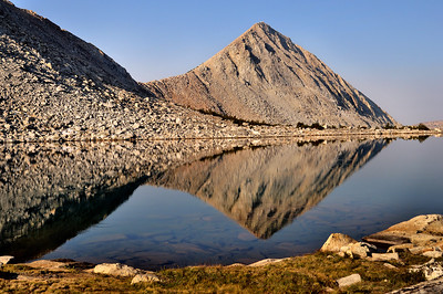 Pilot Knob Reflection in the Desolation Wilderness.  Sierra Nevada, California.