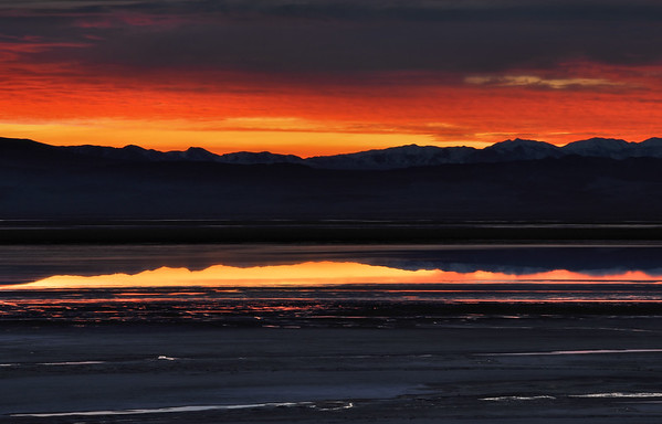 Owens Lake Sunrise.  Olancha, California.  Copyright © 2010 All rights reserved.