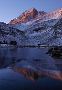 Bear Creek Spire (Morning).  Sierra Nevada Range, California.  Copyright © 2008 All rights reserved.