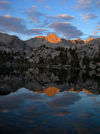 Mount Gardiner Reflection (Sixty Lakes Basin).  Sierra Nevada, California.