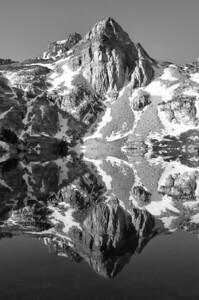Painted Lady Reflection.  Sierra Nevada Range, California.